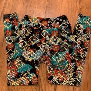 LuLaRoe Pants & Jumpsuits - LuLaRoe Leggings | Super Abstract Print Limited